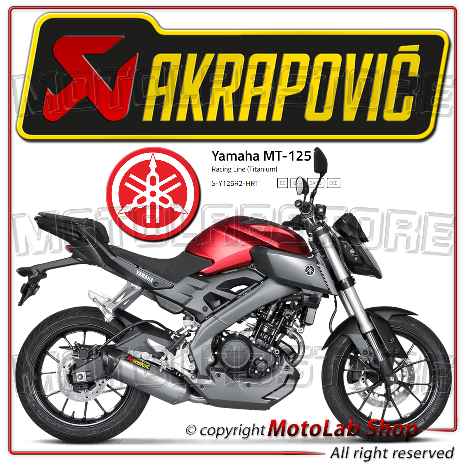 echappement complete racing approuve akrapovic titane yamaha mt 125 2014 ebay. Black Bedroom Furniture Sets. Home Design Ideas