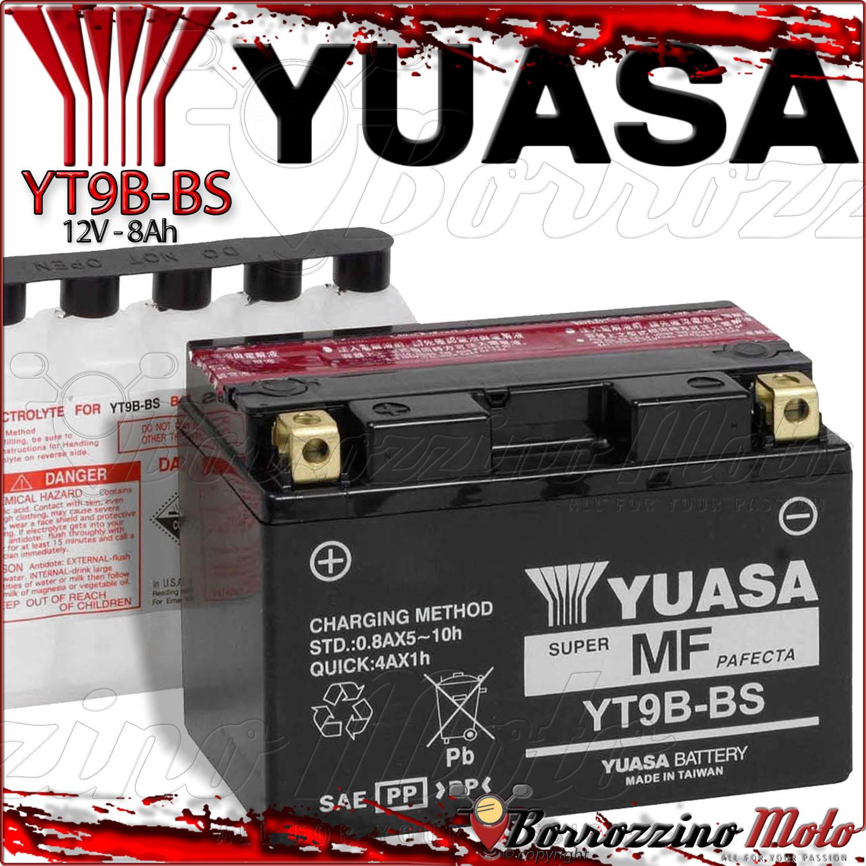 BATTERIA YUASA YB9-B 12v 9Ah PIAGGIO LIBERTY RST 4T 50-125 2004 2005 2006 | eBay