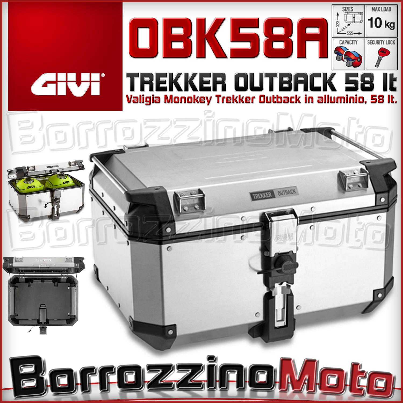 acheter populaire authentique double coupon Dettagli su GIVI OBK58A TREKKER OUTBACK 58 LITRI VALIGIA MONOKEY BAULE  BAULETTO IN ALLUMINIO
