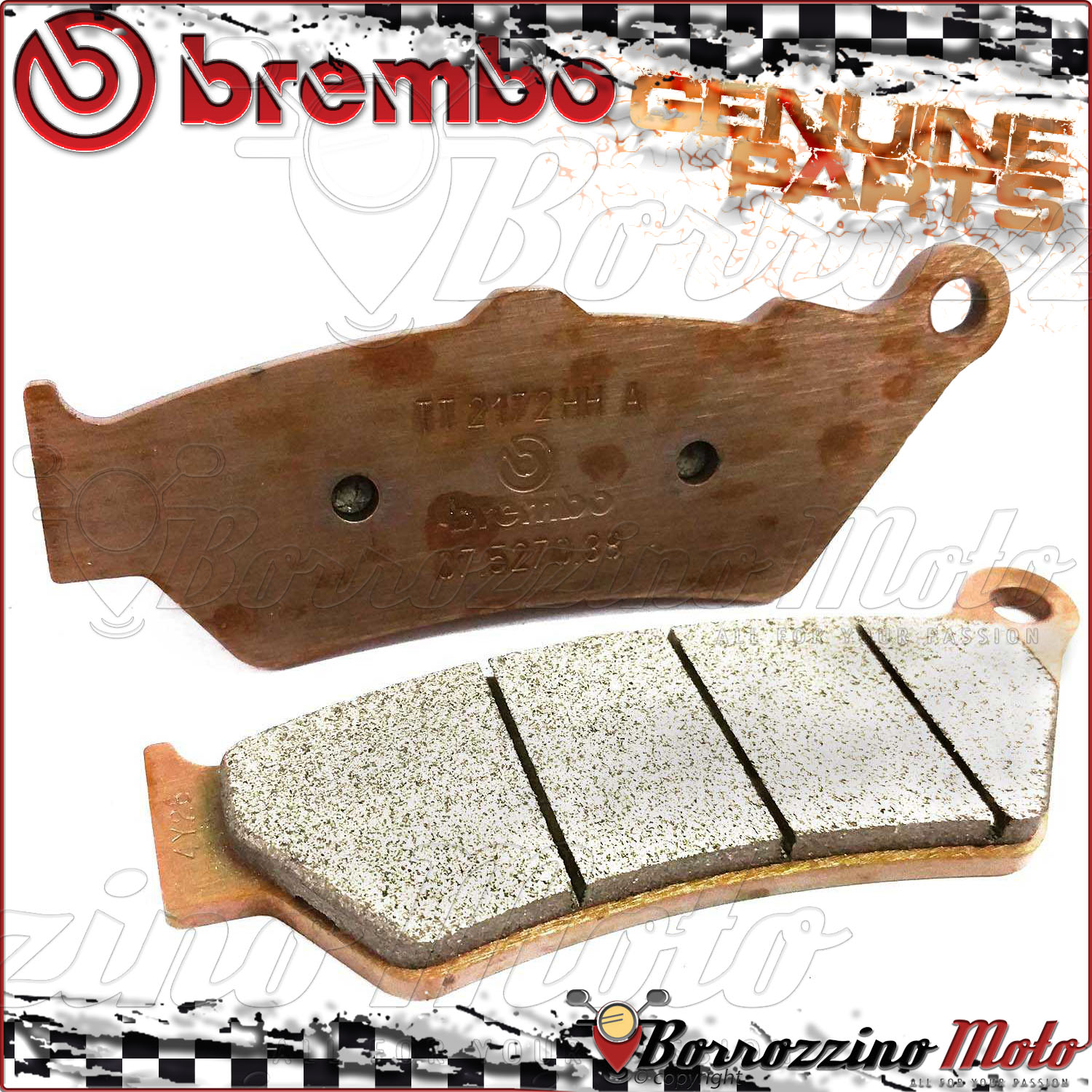 Details about REAR BRAKE PADS BREMBO SINTERED 07BB0390 BMW R 1200 GS  ADVENTURE 2014 2015