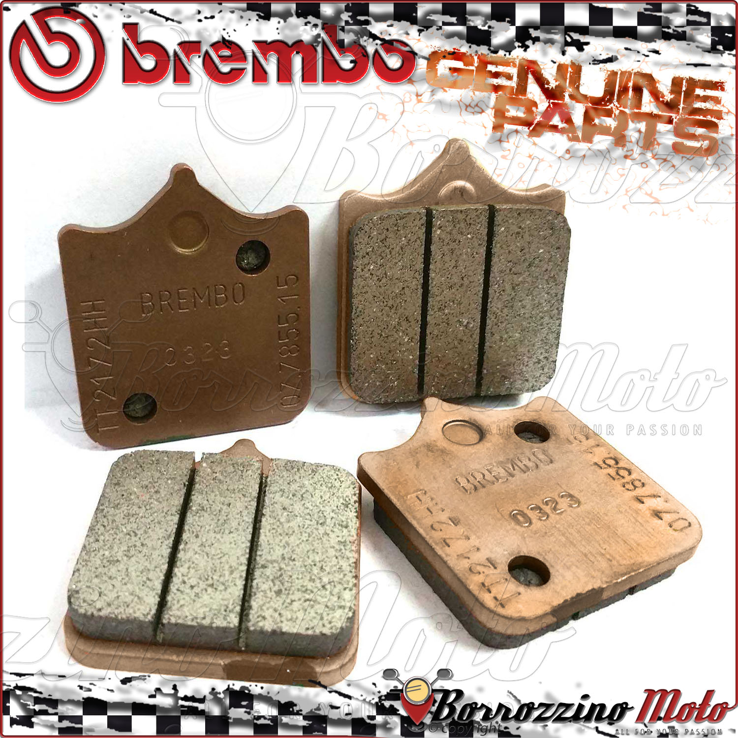 Details about 4 FRONT BRAKE PADS BREMBO GENUINE PARTS SINTERED 07BB0590 TM  SMX F 660 2006 2007