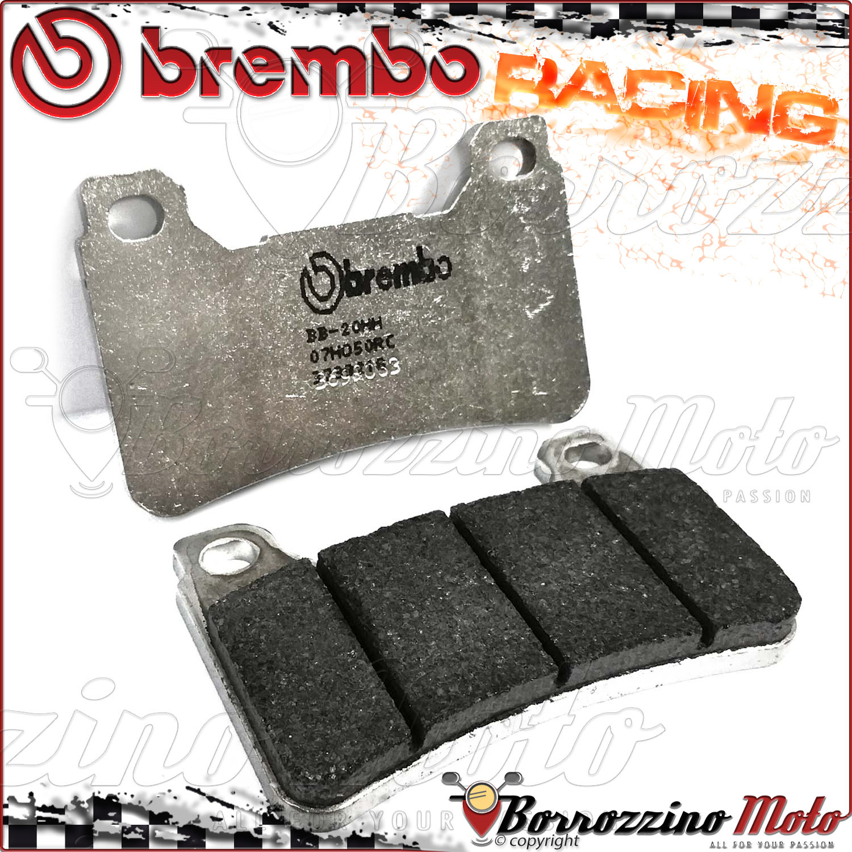 4 PASTIGLIE FRENO ANTERIORI BREMBO RC CARBON CERAMIC RACING HONDA CB 1000 R 2009